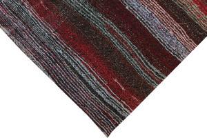 Striped Vintage Turkish Handmade Rag Rug - 8'10
