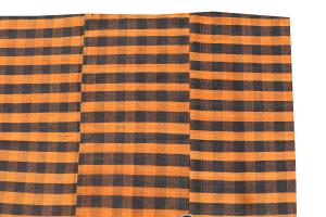 Turkish Modern Handmade Striped Flatweave Textile Rug - 9′3″ × 5′7″