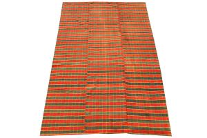 Turkish Handmade Striped Flatweave Rug - 9'10