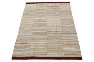 Baneh Wool Kilim Rug - 6'8