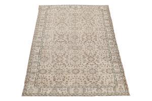 60870 Vintage Turkish rug 9'7'x6'