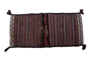 61271 Old Persian Bakhtiari Tribal double bag 1.8x3.7