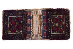 Antique Afshar double bag 2'1