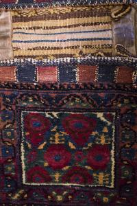 Antique Afshar double bag 2'1