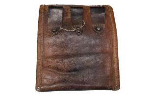 Antique Rare bag with leather back 10