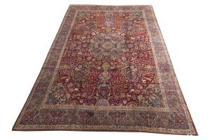 61294 ANTIQUE SIGNED TABRIZ CARPET 14.2x18.3