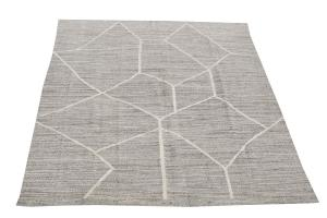 Turkish Kilim Woven with old Wool 10'7