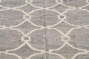 Turkish Kilim Woven with old Wool 10'2