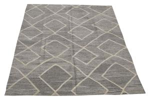 Turkish Kilim Woven with old Wool 9'1