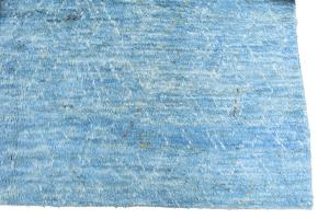 61446 White and Blue Moroccan Wool Rug - 7'11