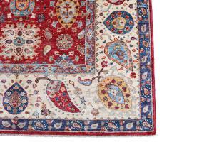 Uzbek design hand made rug 6'7
