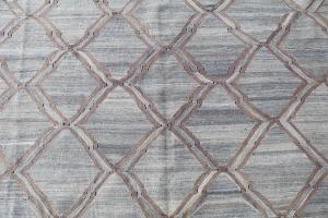 Hand Knotted Modern Kilim 12'2