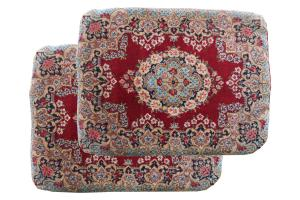 Pair of Antique Persian Kerman Pillows 20x26