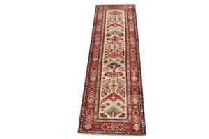 Antique Wool Runner Rug 2'11