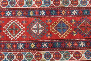 Antique Kazak All Wool 3'3'x11'8