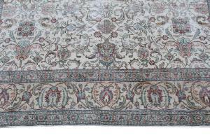 63348 Vintage Persian Tabriz 9'6