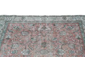 63349 Vintage Persian Tabriz 9'1
