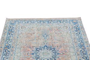 63346 Vintage Persian Tabriz 6'5