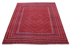 Vintage Afghan Red Burgundy Rug 10'x11'6