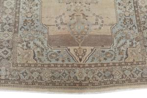 Vintage Soft Multi Color Tabriz Rug 9'x6'