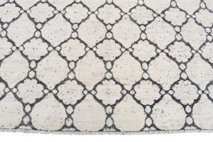 Contemporary Cream & Black rug 8'2