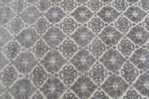 Contemporary Cream & Purple rug 8'1