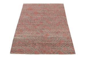 Brown & Salmon color rug 7'10
