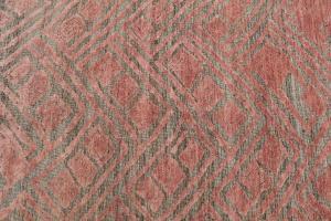 Brown & Salmon color rug 7'10