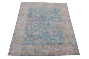62384 beautiful color Oushak Afghan Rug 8'5