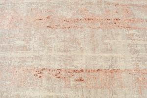 Wool & Bamboo Silk Orange, Beige, Off-White 9'10