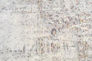 Wool & Bamboo Silk Gray, Orange, Tan, Black 8'x10'