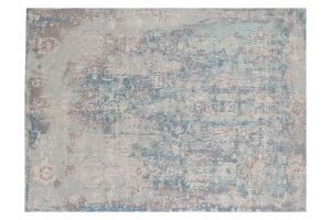 Wool & Bamboo Blue, Gray, Navy Blue, Off-White Silk 8'x10'