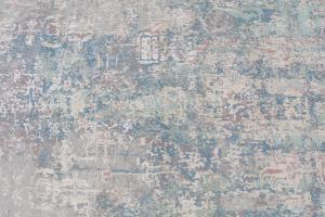 62550 Wool & Bamboo Blue, Gray, Navy Blue, Off-White Silk 8'x10'