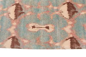 62552 Wool Rug Orange, Off-White, Purple, Brown. 8'x10'
