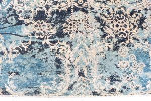 62553 Wool Rug Sky Blue, Brown, Black, Tan, Beige. 8'x10'