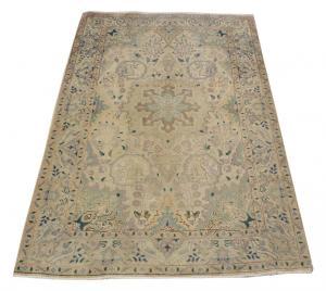 62591 Persian vintage Tabriz rug 3'1