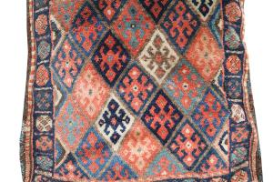 63020 Antique Kurdish  Pillow 1'9