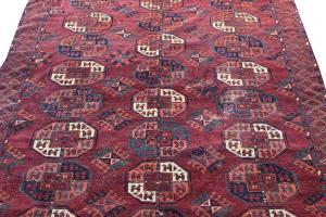 63268 Antique Turkman rug 6'7