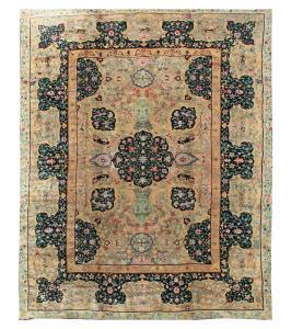 63269 Antique European rug 10'8'x15'3
