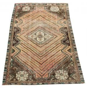 63306 Antique Southwest Persian Ghashgaie Rug 4′11″ × 7′9″