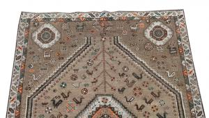 63319 Antique Southwest Persian Ghashgaie Rug 5′1″ × 7′7″