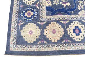 C1-1 Oushak Design, fine hand knotted rug 13'3