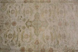 All wool hand made rug 11'6