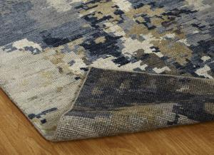 v138 Hannah WH-459 Hand Knotted Blues/Greys
