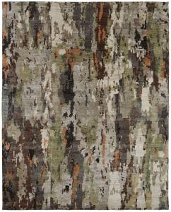 v138 Hannah WH-659 Hand Knotted Khaki/Grey