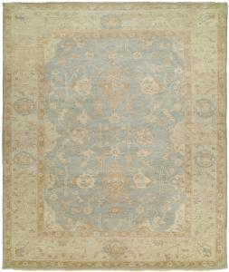 Ottoman KZ-132 Hand Knotted Rug Color Ivory Blue
