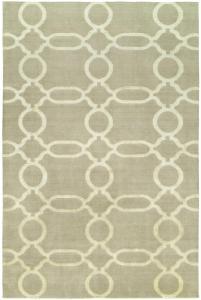 Bamboo Beige Wool & Silkette Sample Clearance Rug 6'x9'