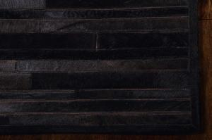 Handmade Cowhide Stripes ARP-01 Color Black