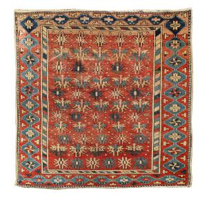 NN-17 Antique caucasian Shirvan  rug 3'4