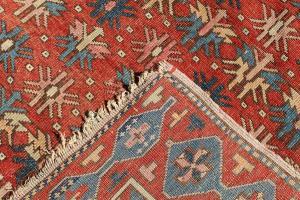 NN-17 Antique caucasian Shirvan  rug 3'4